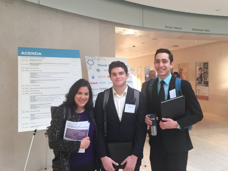 CeO students and CeO advisor, Megan, attending the 2018 Biohealth Summit at the Overture Center